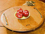 Wine Barrel Accessories - Wine Barrel Lazy Susan