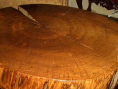 Wine Barrel Tables - Oak Slab Coffee Table