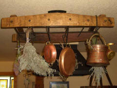 Wine Barrel Accessories - Wine Barrel Hanging Pot Rack