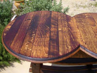 Wine Barrel Tables - Wine Barrel Tasting Table