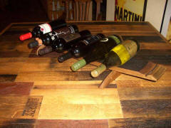 Wine Barrel Accessories - Wine Barrel Wine Rack Display