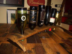 Wine Barrel Accessories - Wine Barrel Stave Counter Top Wine Rack