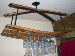 Wine Barrel Accessories - Wine Barrel Ceiling Mount Glass Rack
