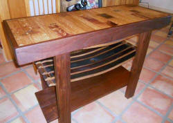 Wine Barrel Tables - Wine Barrel Sofa Table