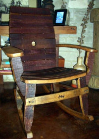Wine Barrel Accessories - Wine Barrel Stave Rocking Chair